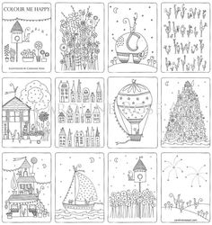 Colour Me Happy PDF Downloadable Colouring In By CarolineRoseArt