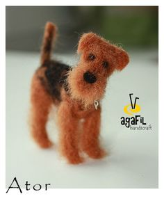 @Allison Fentzke- they're calling this a needle felted Airedale, but this is ABSOLUTELY Mike!!! :o)