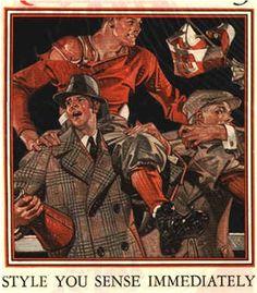 J.C. Leyendecker, Kuppenheimer ad illustration, 1927.