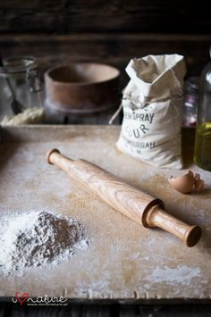 Hand turned rolling pin