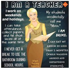 Teaching is one of the toughest jobs anyone can do in this world. Teacher Humour, Teaching Humor, Teacher Memes, Teaching Resources, Teacher Sayings, Teacher Stuff, I Am A Teacher, Teaching Quotes Funny, Funny Teacher Quotes