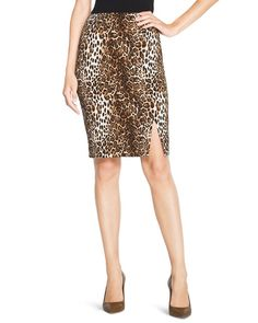 White House | Black Market Leopard Print Pencil Skirt  #whbm