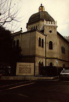 Exterior of the Beth Yaakov Synagogue Geneva, 1970's