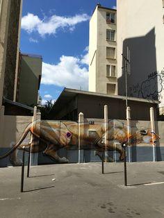 Street art rue Raymond Losserand Paris 14eme Graffiti, Street Art, Paris, World, City, Painting, Beautiful, Montmartre Paris, Painting Art