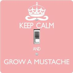 """Rikki KnightTM Keep Calm and Grow a Moustache Light Pink Color - Single Toggle Light Switch Cover by Rikki Knight. $13.99. The Keep Calm and Grow a Moustache Light Pink Color single toggle light switch cover is made of commercial vibrant quality masonite Hardboard that is cut into 5"""" Square with 1'8"""" thick material. The Beautiful Art Photo Reproduction is printed directly into the switch plate and not decoupaged which make these Light Switch Plates suitable for use in an..."""