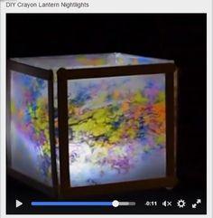 DIY Crayon Lantern Nightlights