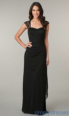 Ruched Floor Length Floor Length Dress at SimplyDresses.com