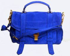 Proenza Schouler Cobalt blue suede = VEEERRRYYY needful thing!