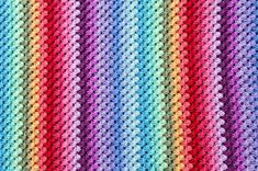 Shell stitch temperature blanket