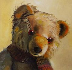 teddy bears; oil paintings - Google Search