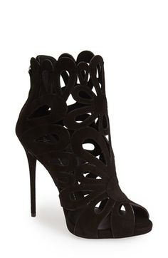 Giuseppe Zanotti 'Coline' Leather Cage Bootie (Women) available at Luxury & Vintage Madrid