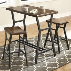 Found it at AllModern - Bunch 3 Piece Counter Height Pub Table Set