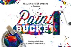 Paint Bucket for Photoshop by Vintage Design Co. on @creativemarket
