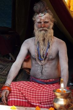from the world photography collection of Richard Notebaart of Radboud University, Netherlands. Kumbh Mela, Valley College, College Library, Body Adornment, World Photography, Spiritual Practices, Varanasi, Body Modifications, Nepal
