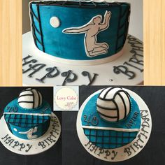 Cake 40 th birthday of volleyball  Joyeux anniversaire Javier!