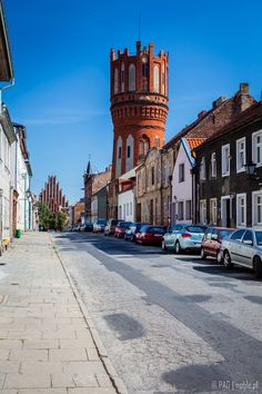 The streets of Chełmno (Culm) city, Poland