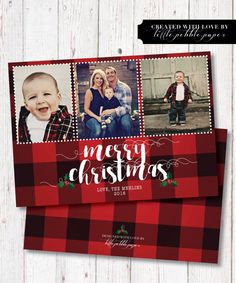 Family Christmas Card, Custom Christmas Card, Plaid, Red Plaid, Photo Card, Merry Christmas, Photo Christmas Cards, Christmas Plaid by LittlePebblePaper on Etsy https://www.etsy.com/listing/479188901/family-christmas-card-custom-christmas
