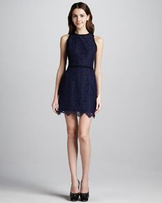 T5ZQK Milly Claudia Scalloped Lace Dress