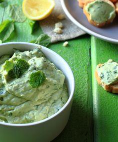 Avocado, mint and greek yoghurt dip