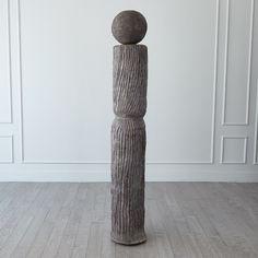 Andre Totem-Dark Grey Accent Pieces, Decorative Items, Dark Grey, Sculpture, Baron, Nantucket, Master Bedroom, Floor, Club