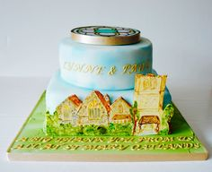 #hand painted #church #cake www.byjojo.co.uk