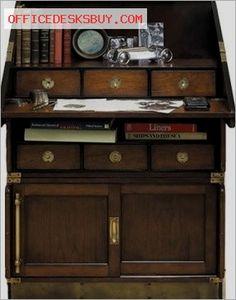 Authentic Models Campaign Wood Drop Down Desk Bookcase    Http://officedesksbuy.com