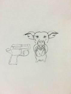 Mijn eerste ontwerp. Dit was om inspiratie te krijgen en dat ik me nog meer in het onderwerp zou verdiepen. De tekening is best goed gelukt!