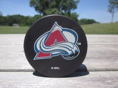 Vintage Stanley Cup Champions  Colorado AVALANCHE  Hockey Puck NHL R20T1