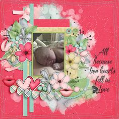 Two Hearts Collab by Fayette Designs, Jen Yurko and Jumpstart Designs   Template Set 77 (retired) by Jumpstart Designs