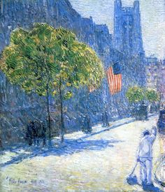 Just Off the Avenue, Fifty-Third Street, May - Childe Hassam