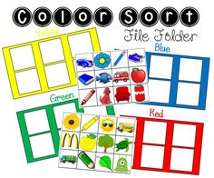Color Sort File Folder Activity - FREE