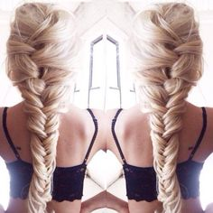 French braid into fishtail
