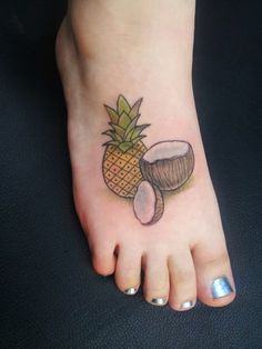 Ascending Lotus Tattoo | Another lil pineapple with some coconut ...