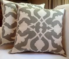 One pair of Kravet Fabrics Barbara Barry Poetical Pillows With Down and Feather Inserts on Etsy, $150.00