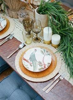 desert wedding inspiration, photo by Clayton Austin http://ruffledblog.com/southwestern-desert-wedding-ideas #weddingideas #reception #tablescape