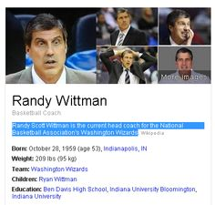 Randy Scott Wittman is the current head coach for the National Basketball Association's Washington Wizards