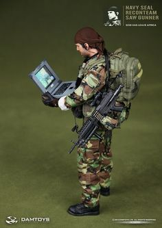 onesixthscalepictures: DAM Toys NAVY SEAL Reconteam SAW Gunner : Latest product news for 1/6 scale figures (12 inch collectibles) from Sides...
