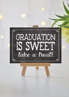 Instant 'Graduation is Sweet take a treat' Printable by JoJoMiMi