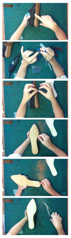 Making Oxford shoes sole. Combination of pics from this last lesson in the course