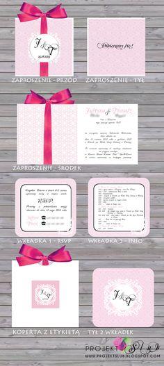projekt ŚLUB - zaproszenia ślubne, oryginalne, nietypowe dekoracje i dodatki na wesele: beż