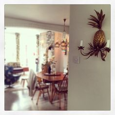 Good morning pineapple wall sconce. Will I ever tire of you? #alwaysafavourite #caravanstyle
