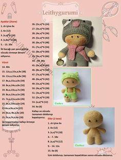 Adorable crochet doll