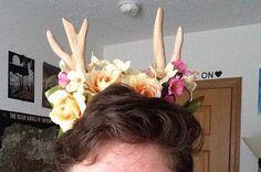 Deer Antlers & Flower Headband ~Large~