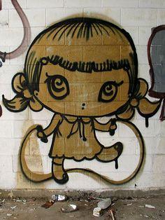 Misery graffiti - Eden Terrace, Auckland by sneak_nz, via Flickr