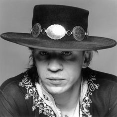 Stevie Ray Vaughan, one of the best, if not the best blues guitarist of our time. God rest his soul.