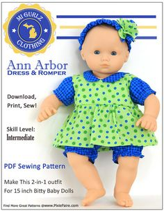 Bity baby pattern by MI gurlz clothing only $3.99 !