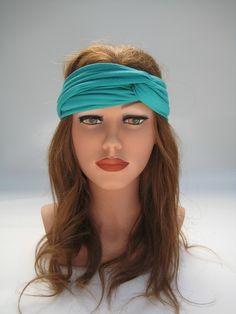 """Haarband Turban """"Fashionista"""" smaragd von  Maria Elfenbunt auf DaWanda.com Etsy, Hair, Fashion, Amazing, Moda, Fashion Styles, Fashion Illustrations, Strengthen Hair"""
