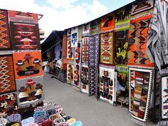 Cece's about to be spending some time combing these streets. Paul better find a coffee shop nearby. Otavalo Market, Ecuador
