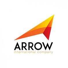 Orange logo in arrow shape Logo Design Examples, S Logo Design, Vintage Logo Design, Logo Design Template, Branding Design, Graphic Design, Pet Logo, Archery Logo, Logistics Logo