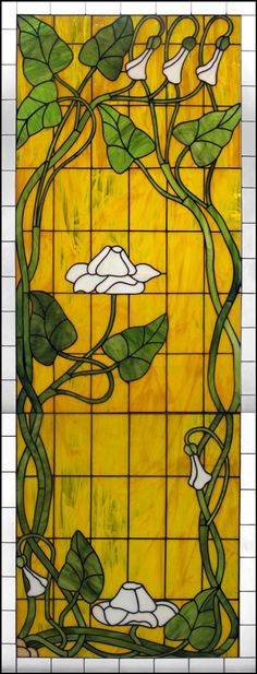 Art Nouveau Flower Design - Delphi Stained Glass